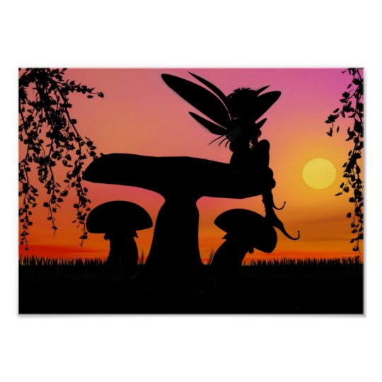 Fairy sunset Poster