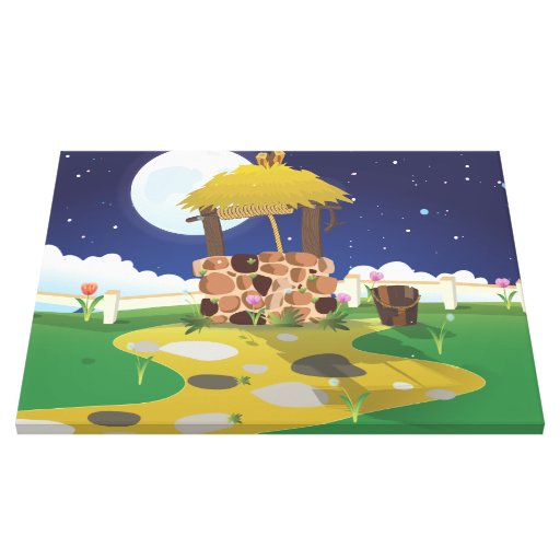 Fairy Tail Well and Bucket Gallery Wrap Canvas