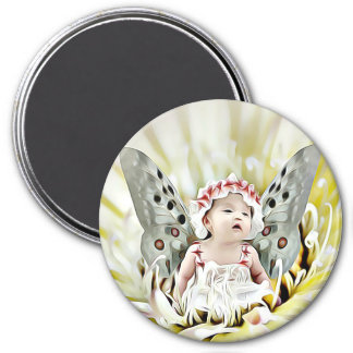Fairy Tale Baby Girl with Wings Magnet