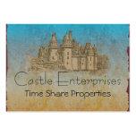 Fairy Tale Castle Large Business Card