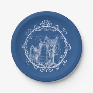 Fairy Tale Castle Vintage Paper Plate