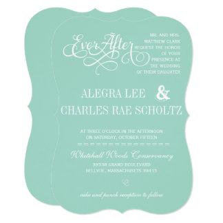Fairy Tale EverAfter Mint Green Wedding Invitation