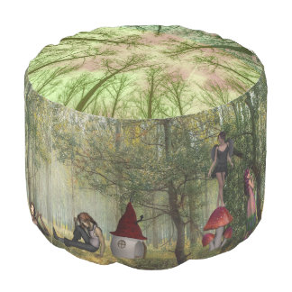 Fairy Tale Fantasy Pouf Mystical Woods Setting