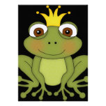 Fairy Tale Frog Prince with Crown Custom Invite