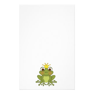 Fairy Tale Frog Prince with Crown Customized Stationery