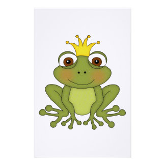 Fairy Tale Frog Prince with Crown Stationery Paper