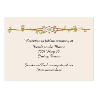 Fairy Tale Ivory Wedding Information Card Large Business Card
