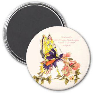 Fairy Tale Kiss Round Magnet