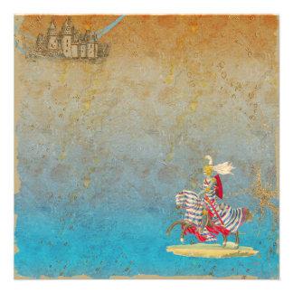 Fairy Tale Knight Castle Invitation Card