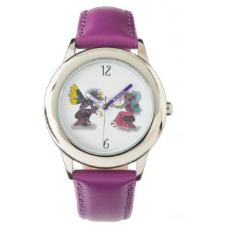 Fairy Tale Love Fantasy Cartoon Butterfly Couple Watch