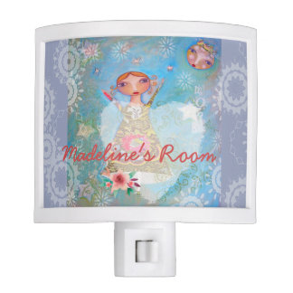 Fairy Tale Night Light Under Sweet Moon Nursery