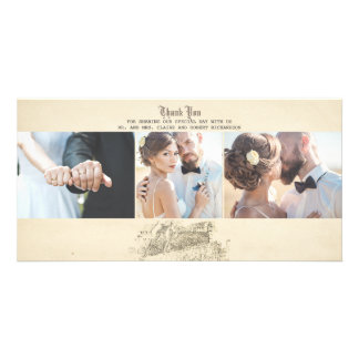 Fairy Tale Old Vintage Wedding Thank You Photo Cards