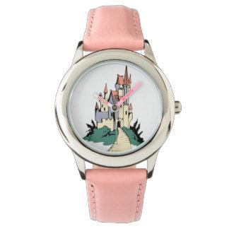 Fairy Tale Pink Princess Castle Watch
