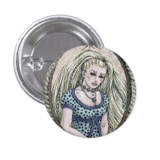"Fairy Tale ""Rapunzel"" Fantasy Art Button"