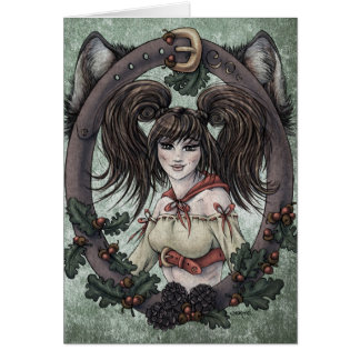 "Fairy Tale ""Red Riding Hood"" Fantasy Art Card #1"