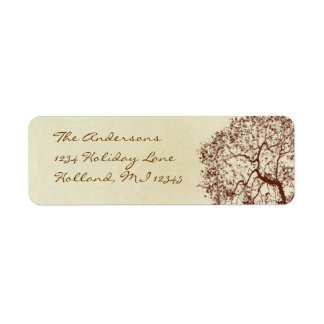 Fairy Tale Rustic Forest Brown Tree Return Address