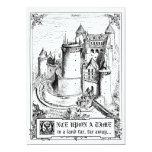 "Fairy Tale Storybook Wedding Invitations 5"" X 7"" Invitation Card"