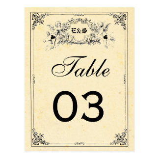 Fairy Tale Storybook Wedding Table Numbers Postcard