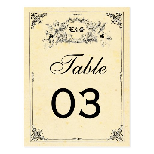 Fairy Tale Storybook Wedding Table Numbers Post Cards
