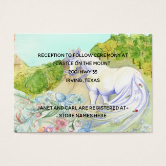Fairy Tale Unicorn Wedding Information Card
