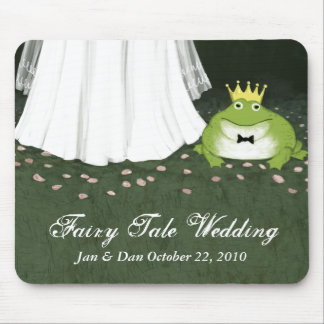 Fairy Tale Wedding Bride & Frog Prince Mouse Pad