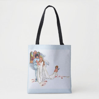 fairy tale wedding tote bag