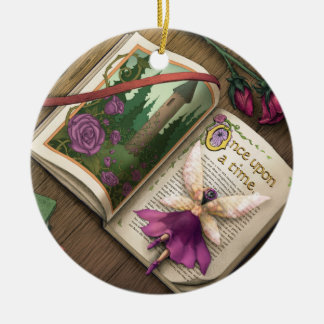 Fairy Tales II Ceramic Ornament