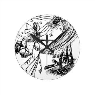 fairy-tales round clock