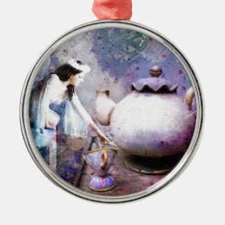 FAIRY TEA Silver-Colored ROUND ORNAMENT