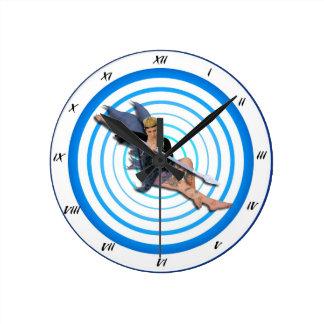 Fairy Time Round Clock