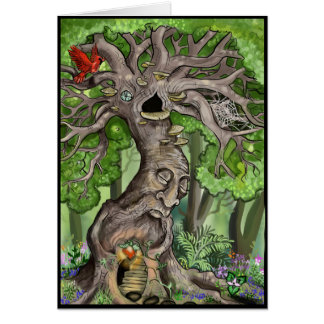 Fairy Tree Home Card