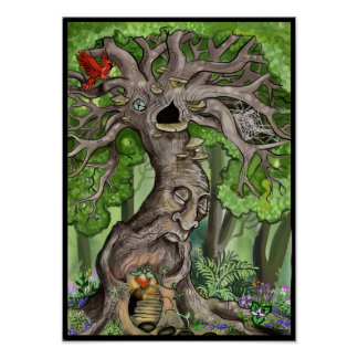 Fairy Tree Home Poster