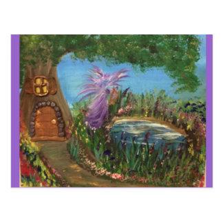 Fairy Tree House by Harmony Postcard