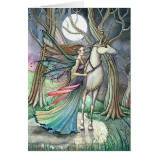 Fairy Unicorn Fantasy Greeting Card Blank