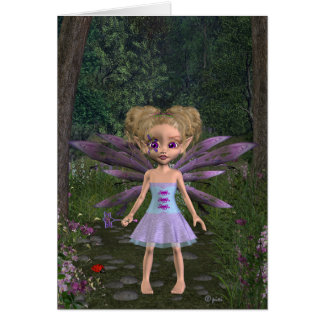 Fairy Violet - Greeting Card