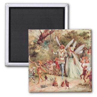 Fairy Wedding Square Magnet