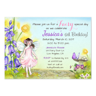 Fairy Whimsical Fantasy Birthday Party Invitation