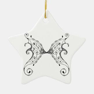 Fairy Wings Ceramic Star Ornament
