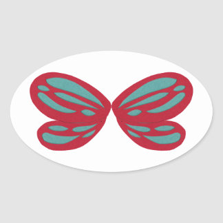 Fairy Wings Oval Sticker
