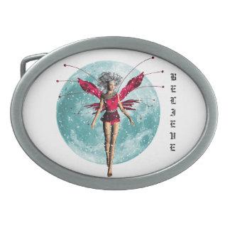 Fairy winter moon belt buckle
