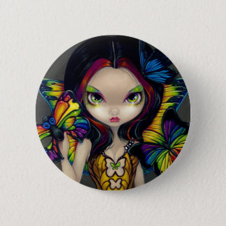 """""""Fairy with a Butterfly Mask"""" Button"""