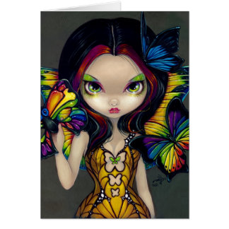 """Fairy with a Butterfly Mask"" Greeting Card"