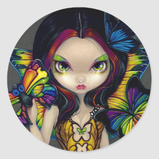"""Fairy with a Butterfly Mask"" Sticker"