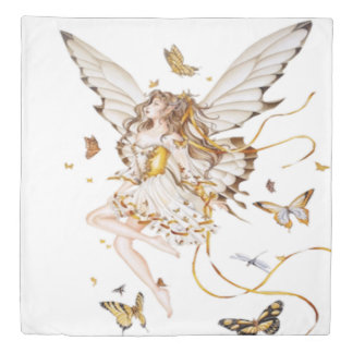 fairy with butterflies duvet cover