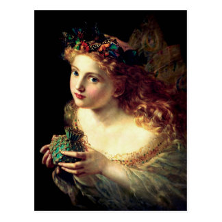 Fairy with Butterfly Halo Postcard