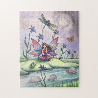 Fairy with Dragonflies and Frog Puzzle