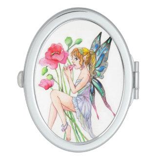 Fairy with ocarina travel mirror
