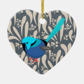Fairy Wren Ceramic Ornament