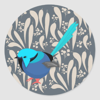 Fairy Wren Classic Round Sticker
