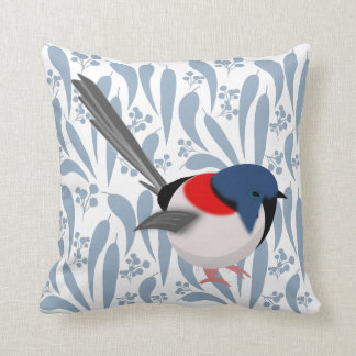 Fairy Wren Throw Pillow